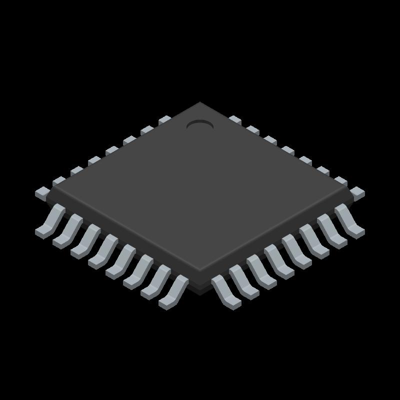 ATMEGA88PV-10AU - Microchip - 3D model - Quad Flat Packages - TQFP 32A