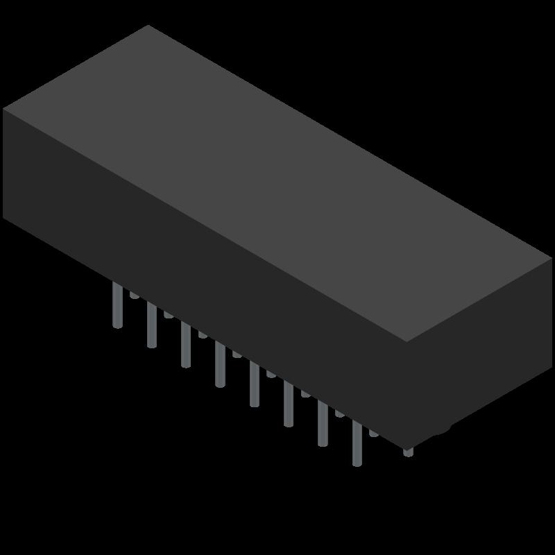 MWDM2L-25PCBRP-.110 - Glenair - 3D model - Other - MWDM2L-25PCBRP-.110