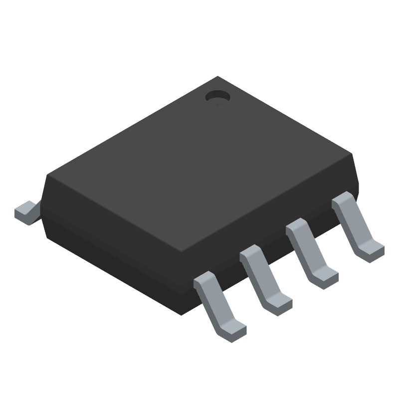 LM358BAIDR - Texas Instruments - 3D model - Small Outline Packages - D0008A  SOIC