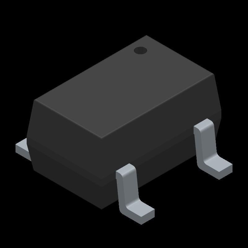 SN74AUP1G125DCKT - Texas Instruments - 3D model - SOT23 (5-Pin) - SN74AUP1G125DCKT