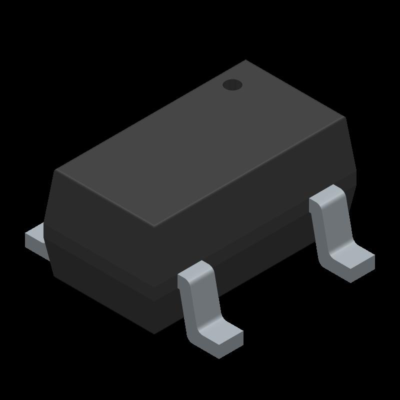 AP3012KTR-G1 - Diodes Inc. - 3D model - SOT23 (5-Pin) - Sot23-5