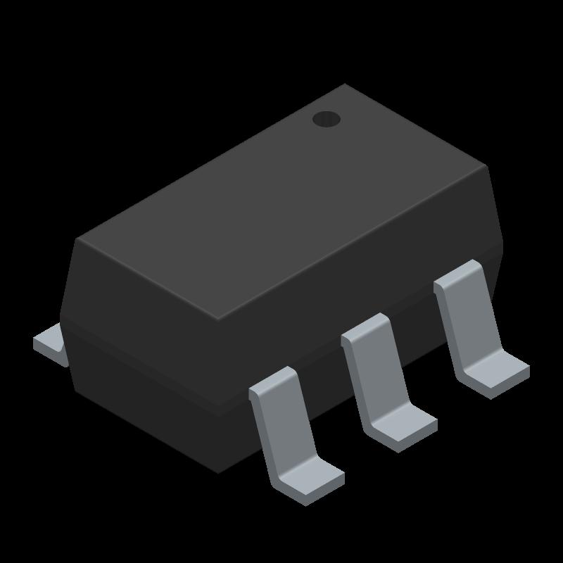 ESDA6V1BC6 - STMicroelectronics - 3D model - SOT23 (6-Pin) - SOT23-6L