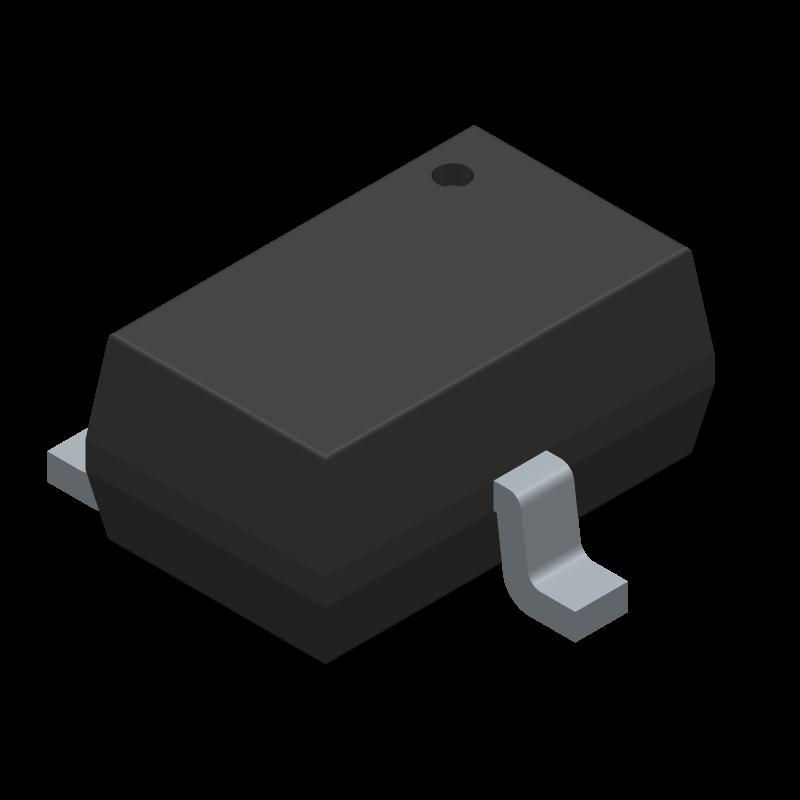 HSMS-286C-BLKG - Avago Technologies - 3D model - SOT23 (3-Pin) - SOT-323