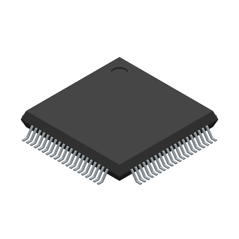 W5100 - WIZnet Inc - 3D model - Quad Flat Packages - 80-Pin LQFP