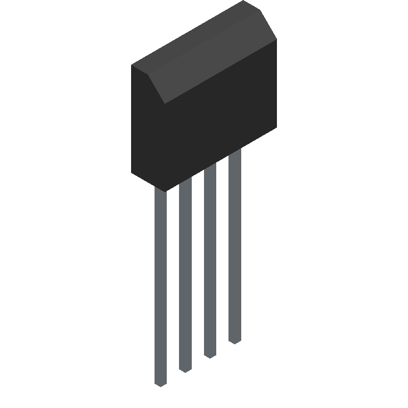 KBU1006G - HY Electronic Corp - 3D model - Transistor Outline, Vertical - KBU