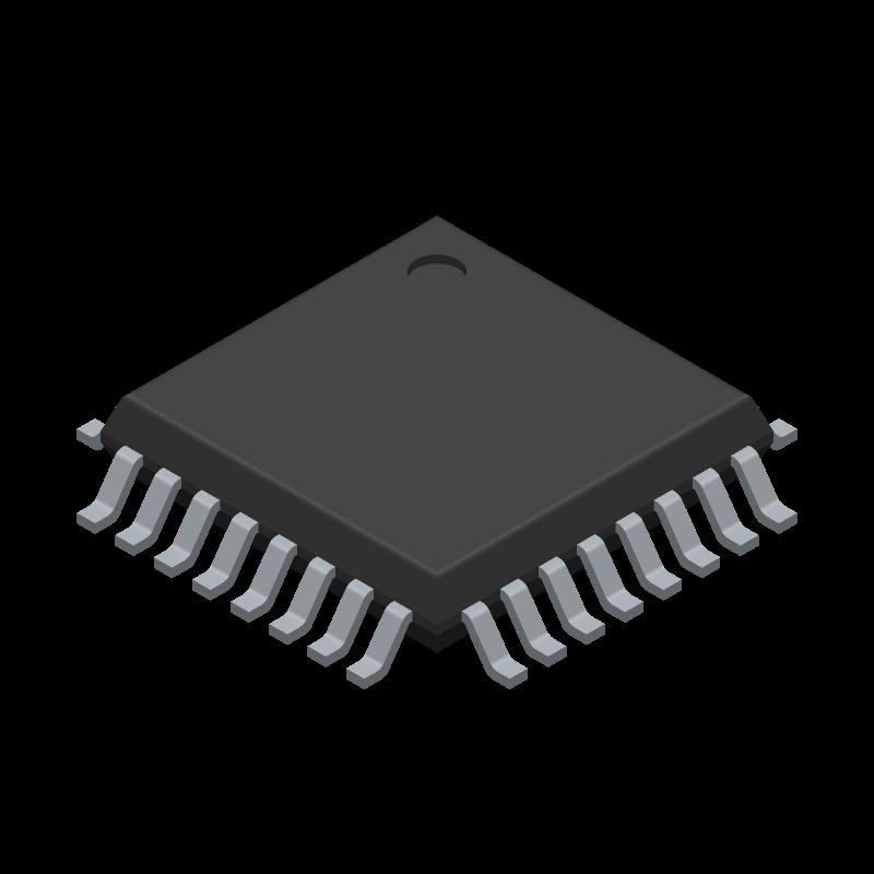STM32F303K8T6 - STMicroelectronics - 3D model - Quad Flat Packages - ST LQFP32
