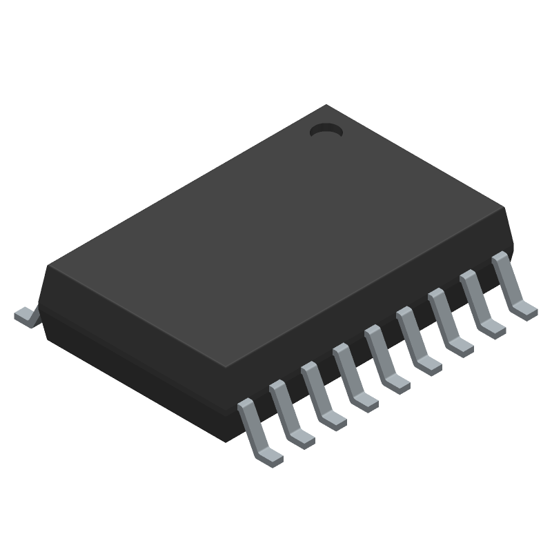 ULN2803AFWG,C,EL - Toshiba - 3D model - Small Outline Packages - P-SOP18-0812-1.27-001