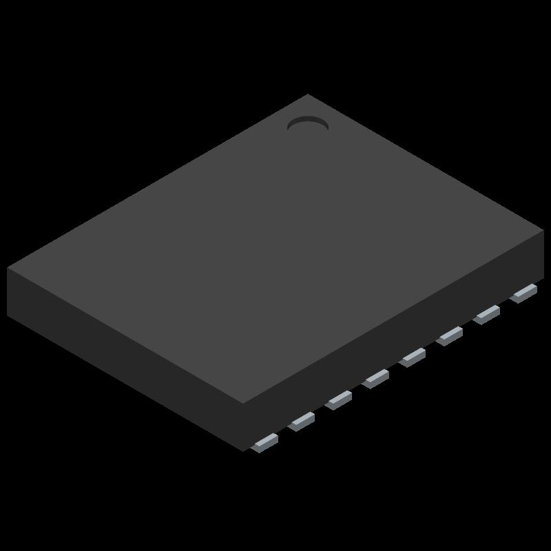 LPC812M101JTB16X - Nexperia - 3D model - Small Outline No-lead - XSON16