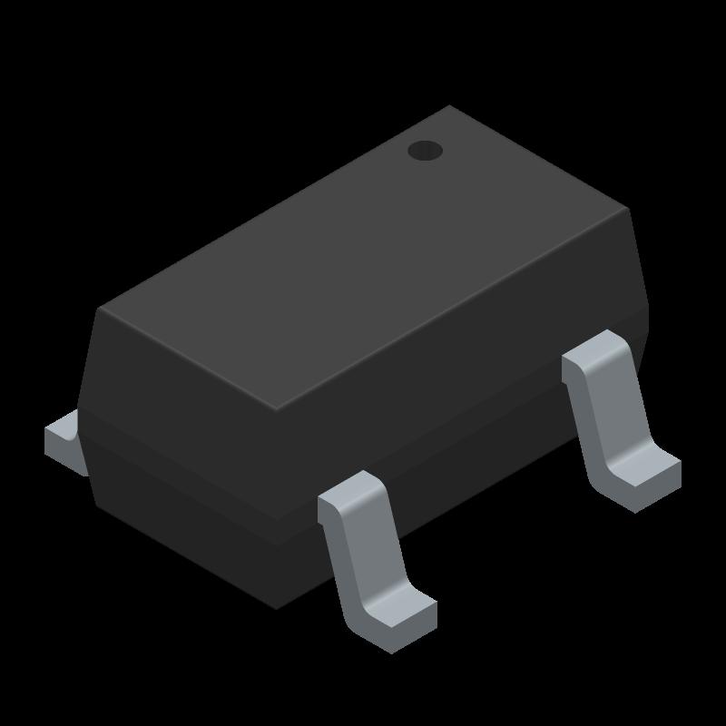 MCP73831T-4ADI/OT - Microchip - 3D model - SOT23 (5-Pin) - OT