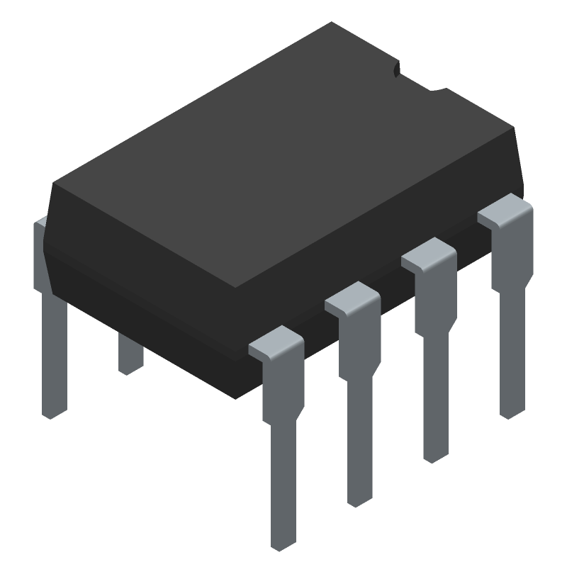LM358N - Texas Instruments - PCB Footprint & Symbol Download