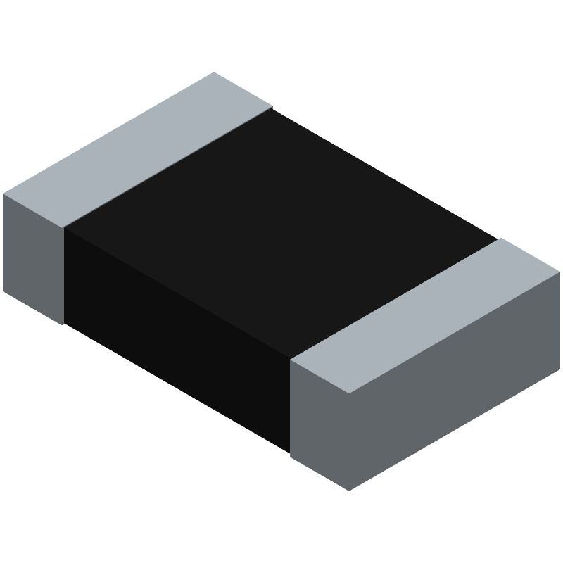 Vishay CRCW0805160RFKEA (Resistor Chip) 3D model isometric projection.