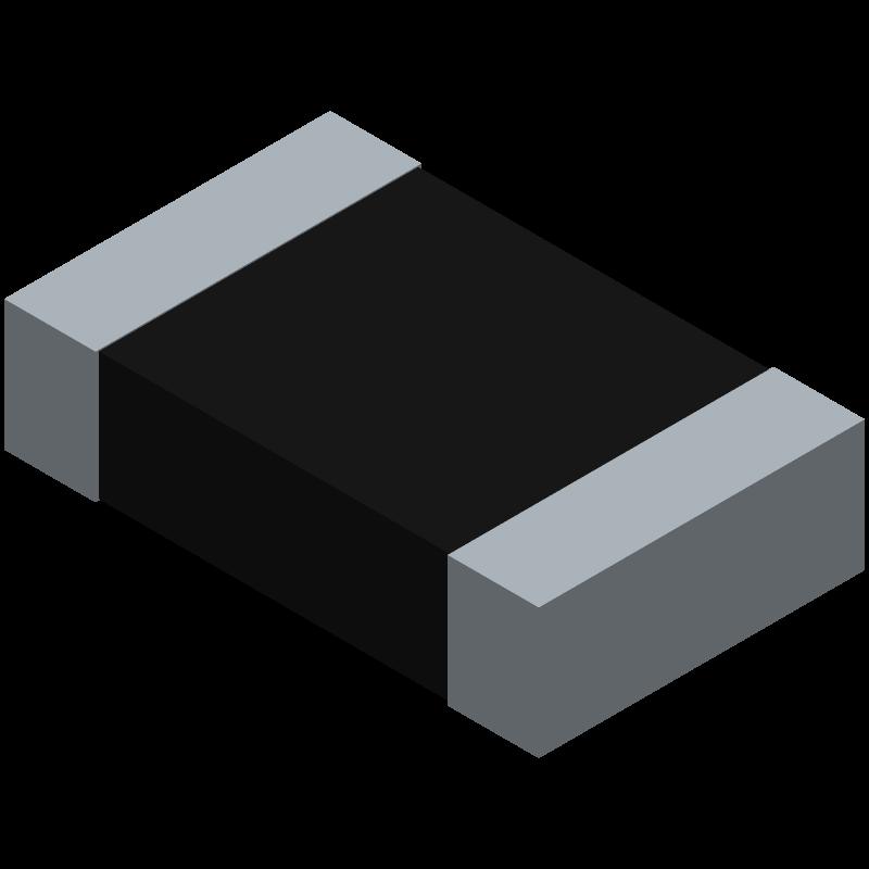 CRCW08055K00FKTA - Vishay - 3D model - Resistor Chip - CRCW0805