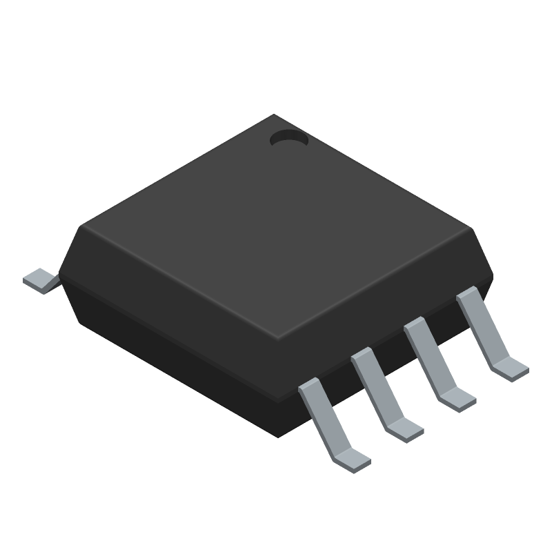 ATTINY85-20SU - Microchip - 3D model - SOT23 (8-Pin) - 8S2
