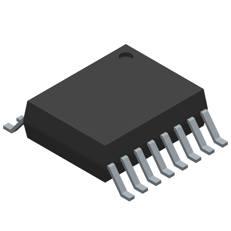 MAX1239EEE+ - Maxim Integrated - 3D model - Small Outline Packages - MAX 21-0055_O