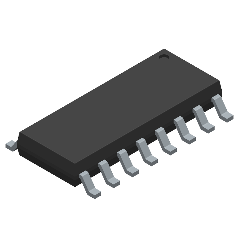 HX711 - DFRobot - 3D model - Small Outline Packages - SOP-16L