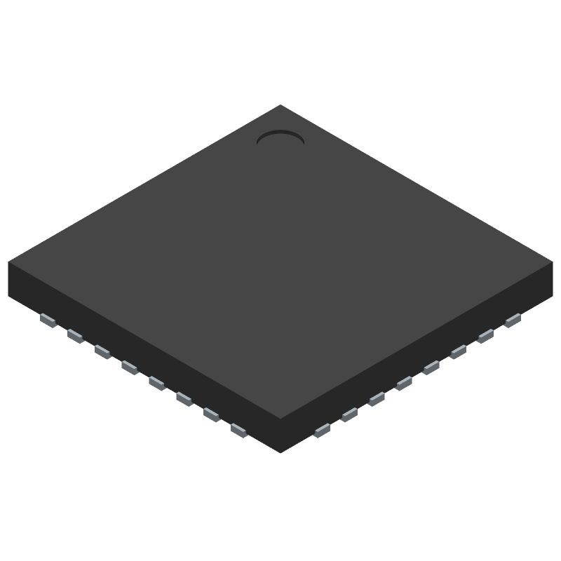 STM32F051K4U6TR - STMicroelectronics - 3D model - Quad Flat No-Lead - STM32F051K4U6TR-1
