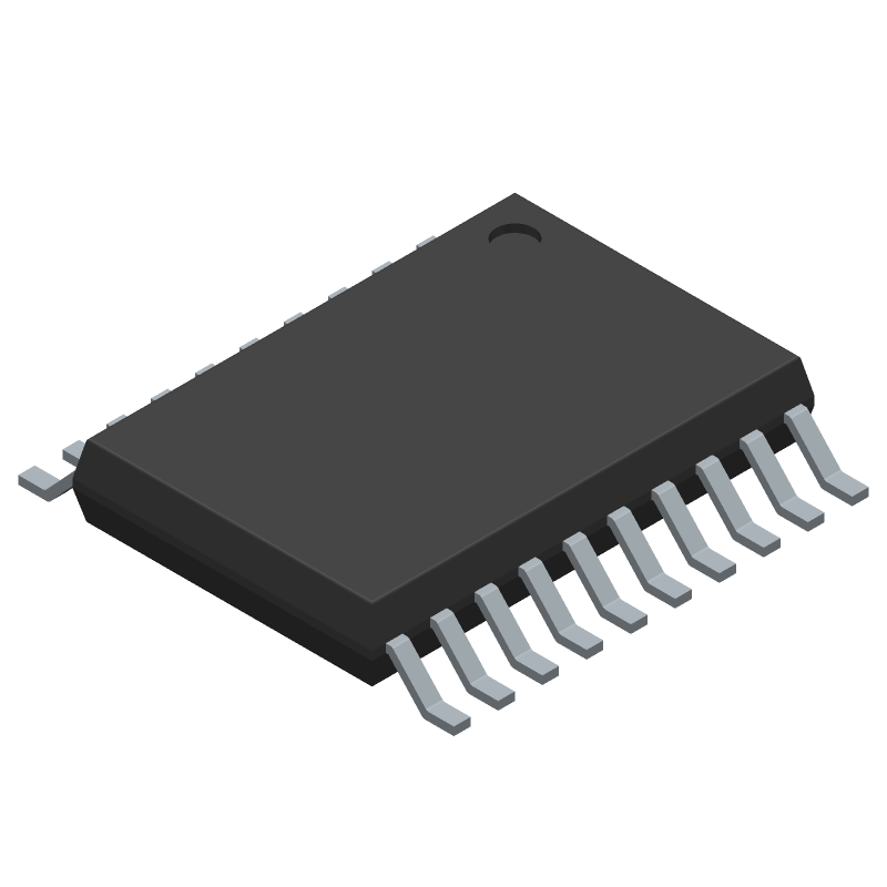 STMicroelectronics STM8S003F3P6TR (Small Outline Packages) 3D model isometric projection.