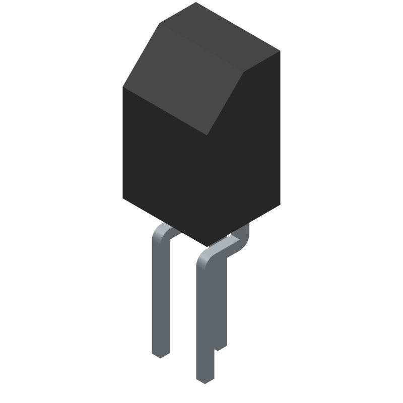 BC547B - ON Semiconductor - 3D model - Transistor Outline, Vertical - TO−92 (TO−226) 1 WATT CASE 29−10 ISSUE A