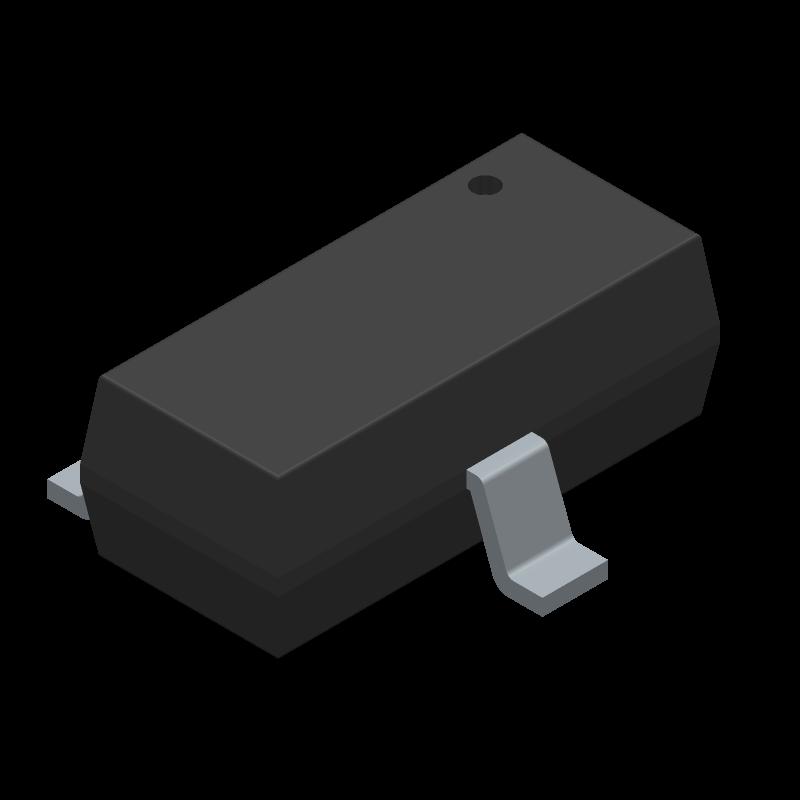 MMBT2222A,215 - Nexperia - 3D model - SOT23 (3-Pin) - SOT23-ren3
