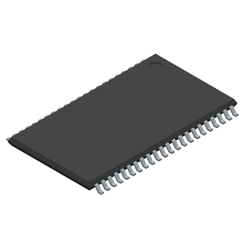 Cypress Semiconductor CY7C1041DV33-10ZSXIT (Small Outline Packages) 3D model isometric projection.