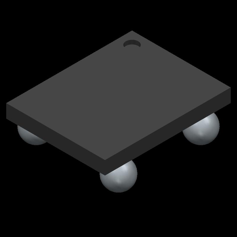 AKU143 - Akustica - 3D model - BGA - 4-Pad LGA