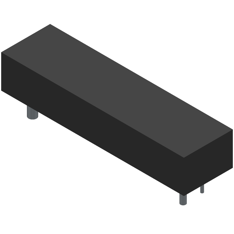 Keystone Electronics 1043P (Other) 3D model isometric projection.