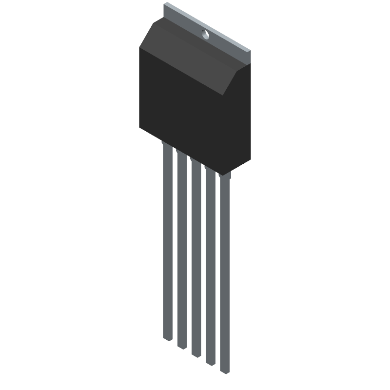 STD01N - Sanken - 3D model - Transistor Outline, Vertical - 5 pin TO-3P