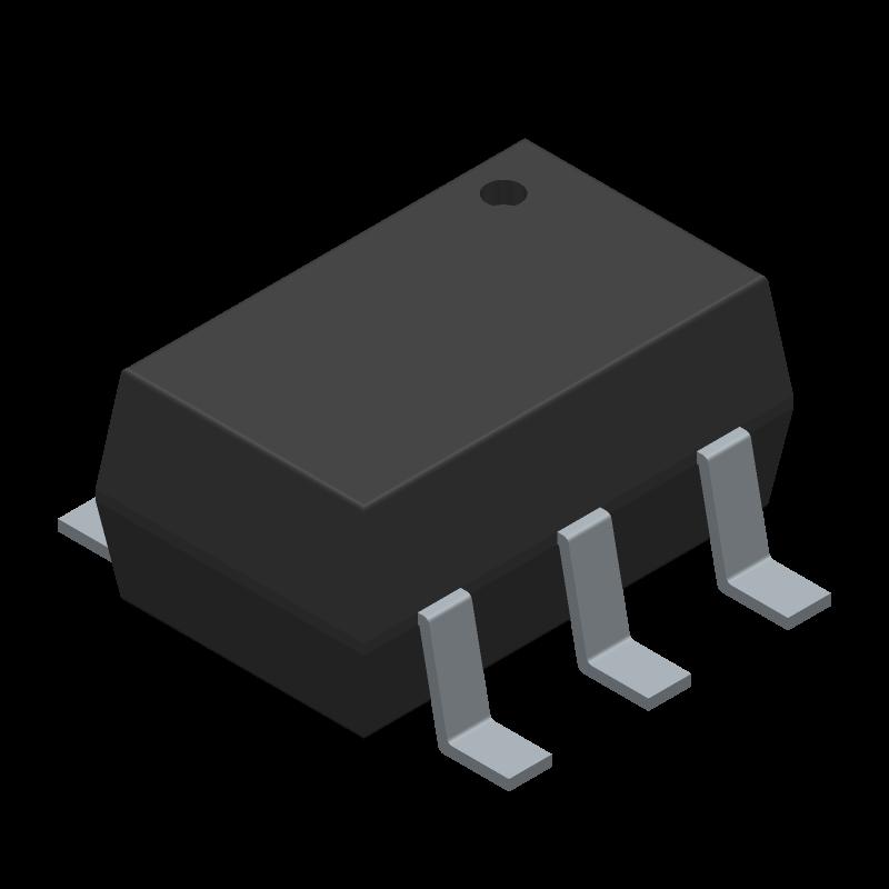 DLPA006-7 - Diodes Inc. - 3D model - SOT23 (6-Pin) - SOT-363