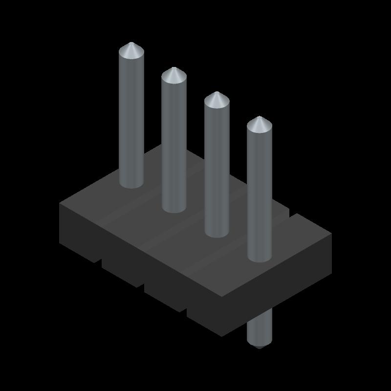 0009652048 - Molex - 3D model - Header, Vertical - 0009652048