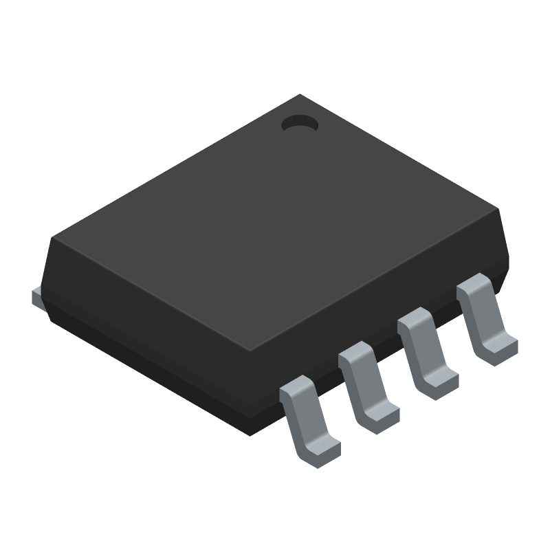 HCNR200-300E - Avago Technologies - 3D model - Small Outline Packages - Gull Wing Surface Mount Option #300