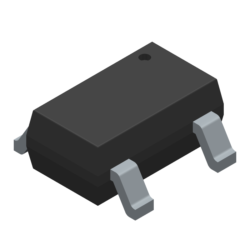 ROHM Semiconductor BU33SD5WG-TR (SOT23 (5-Pin)) 3D model isometric projection.