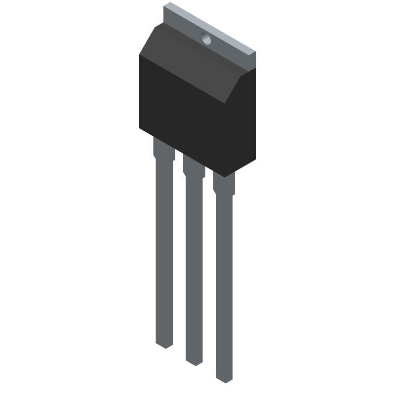 IRFU3711ZPBF - Infineon - 3D model - Transistor Outline, Vertical - TO-251AA