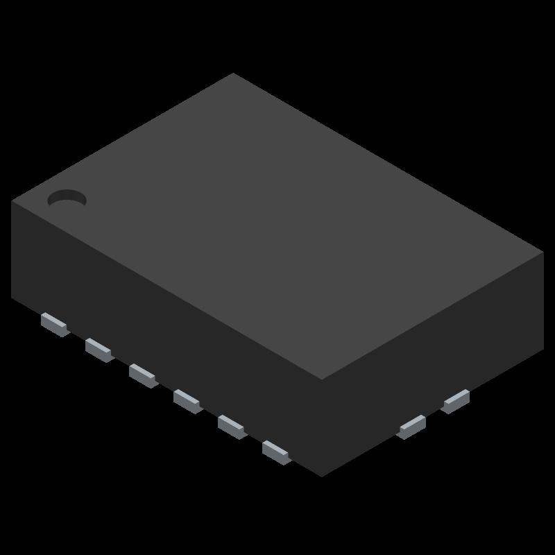 74HC595BQ,115 - Nexperia - 3D model - Other - SOT763-1 (DHVQFN16)