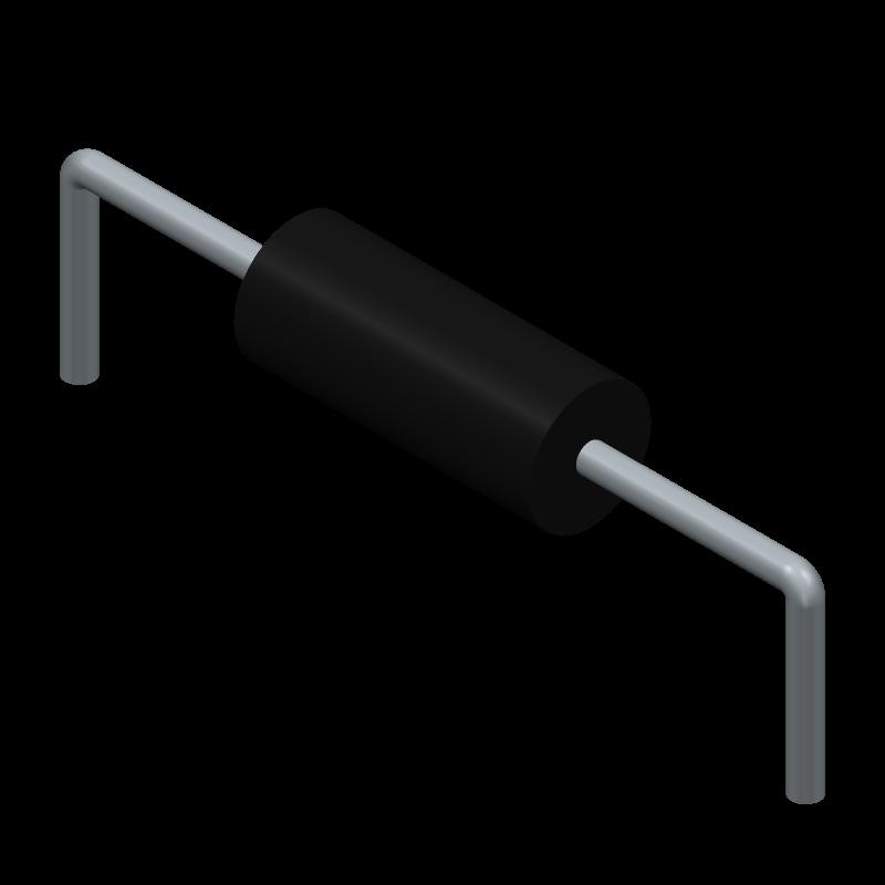 MFS1/2CCT52A1001F - KOA Speer - 3D model - Resistors, Axial Diameter Horizontal Mounting - MFS1/2_1