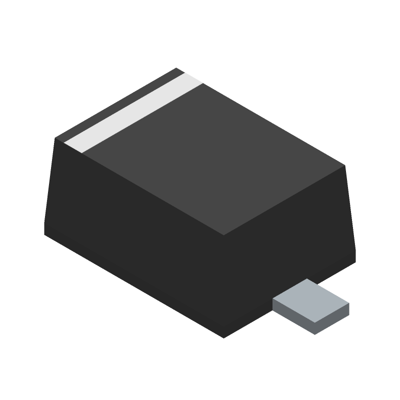 BAT54J,115 - Nexperia - 3D model - Small Outline Diode Flat Lead - SOD-323F