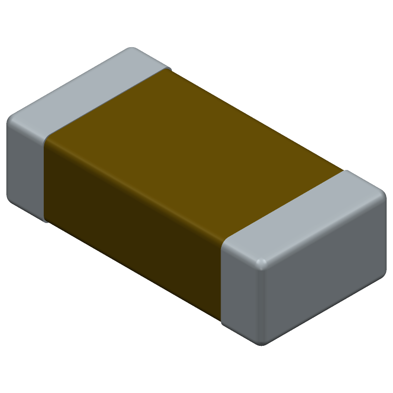 AVX 12065C104KAT2A (Capacitor Chip Non-polarised) 3D model isometric projection.