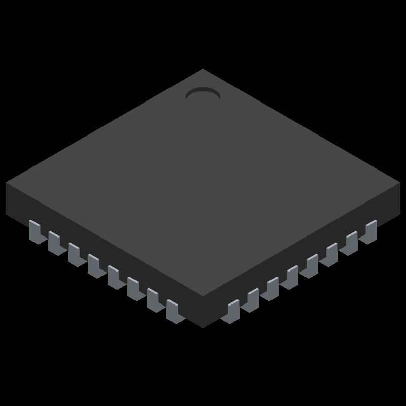 SLB9670VQ12FW641XUMA1 - Infineon - 3D model - Quad Flat No-Lead - PG-VQFN-32-13