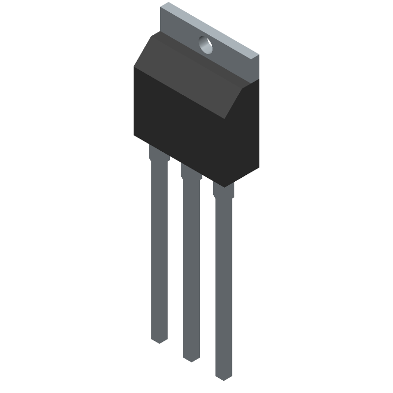 2SK4017(Q) - Toshiba - 3D model - Transistor Outline, Vertical - 2-7J2B