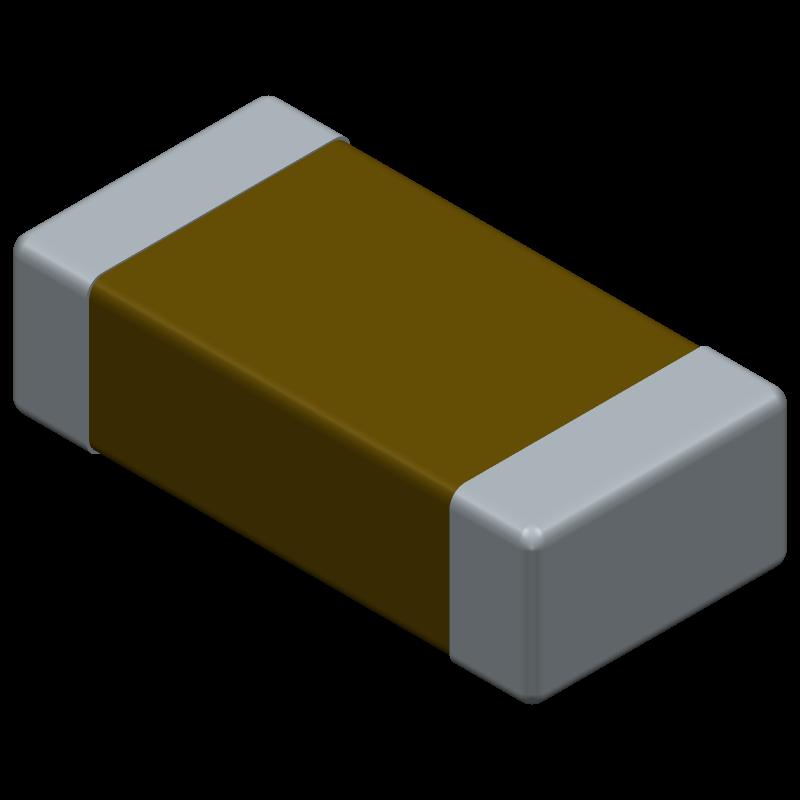 12065C104JAT1A - AVX - 3D model - Capacitor Chip Non-polarised - J1206