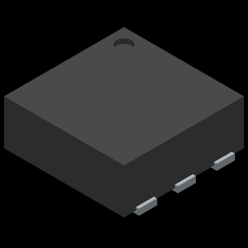 TPS22810DRVR - Texas Instruments - 3D model - Small Outline No-lead - DRV (S-PWSON-N6)