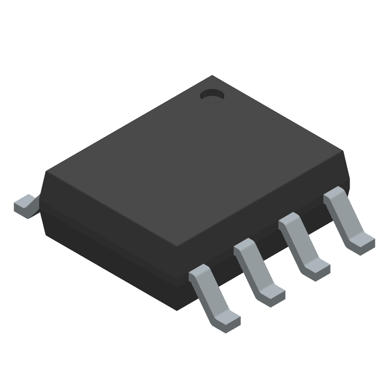 Monolithic Power Systems (MPS) MP2307DN-LF-Z (Small Outline Packages) 3D model isometric projection.