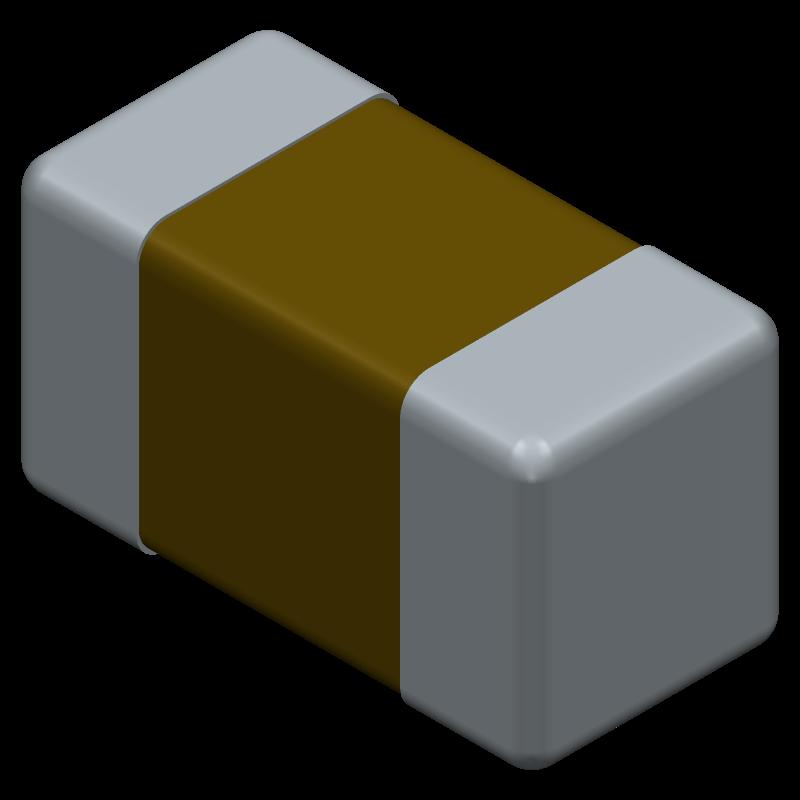 GRM155B11H472K - Murata Electronics - 3D model - Capacitor Chip Non-polarised - GRM155
