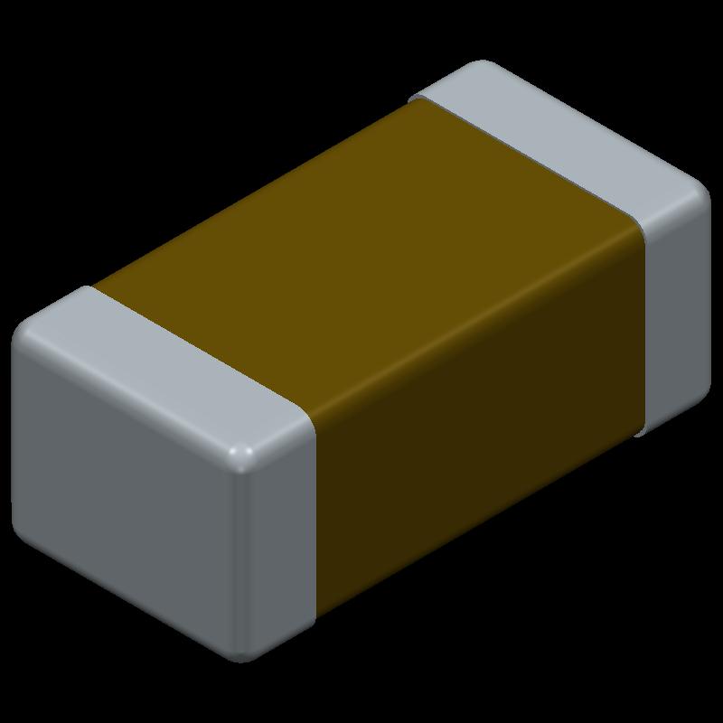 12065F104K4T2A - AVX - 3D model - Capacitor Chip Non-polarised - M1206