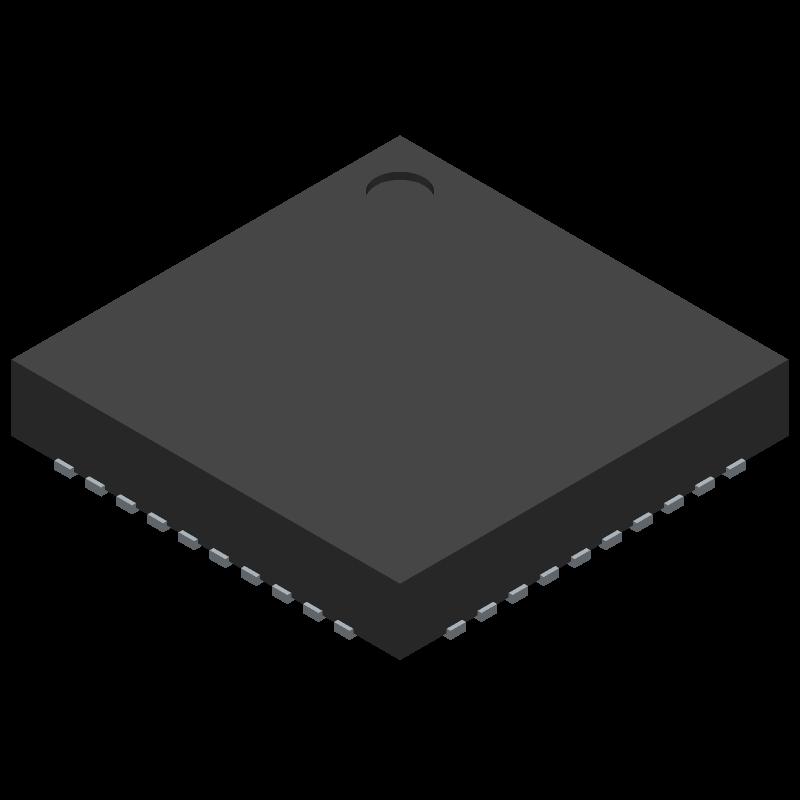 DA14585-00000AT2 - Dialog Semiconductor - 3D model - Quad Flat No-Lead - 40 DOFU QFN 5x5