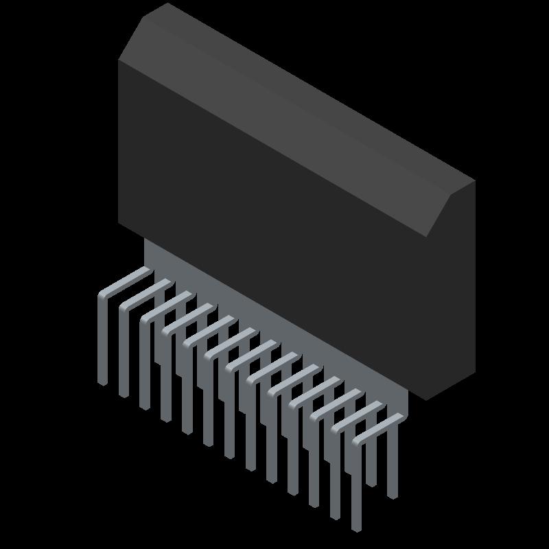 TDA7388 - STMicroelectronics - 3D model - Transistor Outline, Vertical - Flexiwatt25 (vertical)_1
