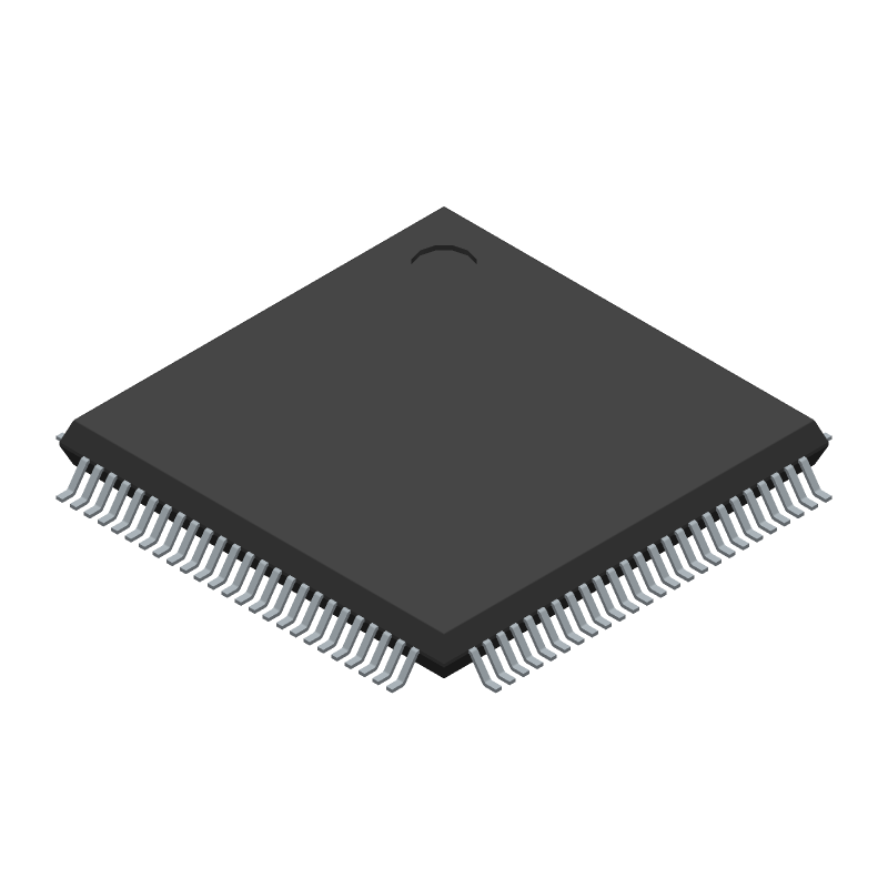 STMicroelectronics STM32F103VCT6 (Quad Flat Packages) 3D model isometric projection.