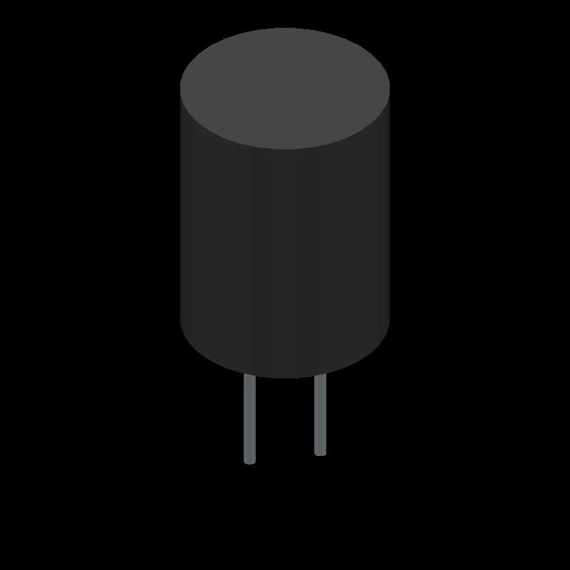 UKL1V101KPDANATD - Nichicon - 3D model - Capacitor, Polarized Radial Diameter - UKL1V101KPDANATD