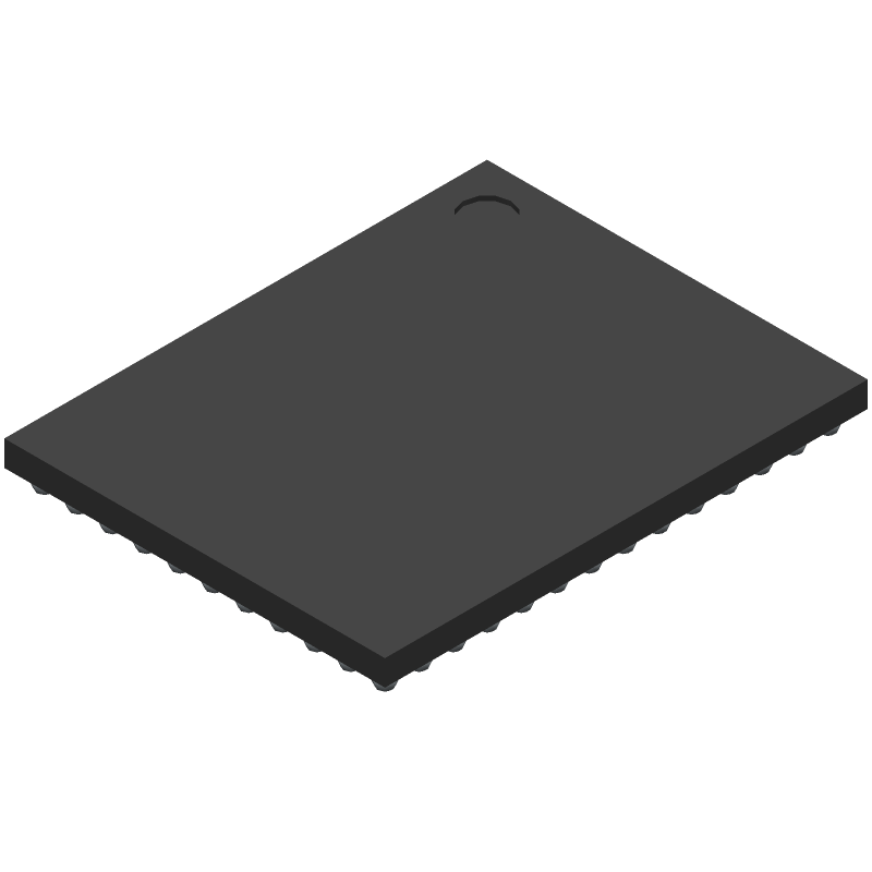 Cypress Semiconductor BCM43340HKUBGT (BGA) 3D model isometric projection.