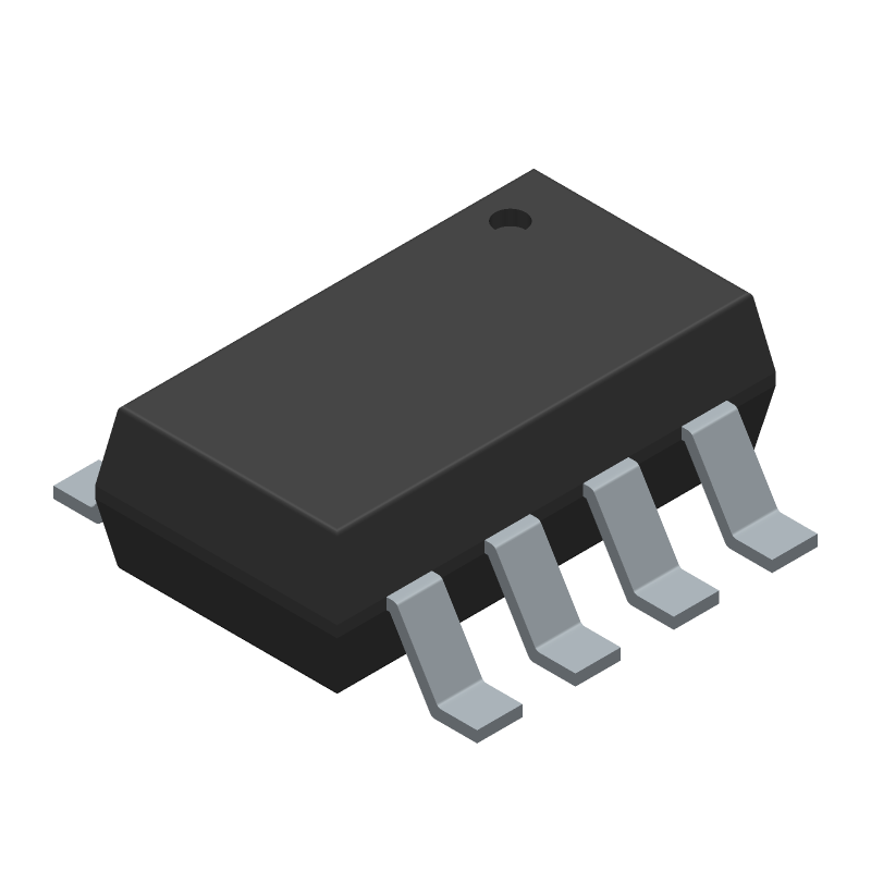 MP2315GJ-Z - Monolithic Power Systems (MPS) - 3D model - SOT23 (8-Pin) - TSOT23-8