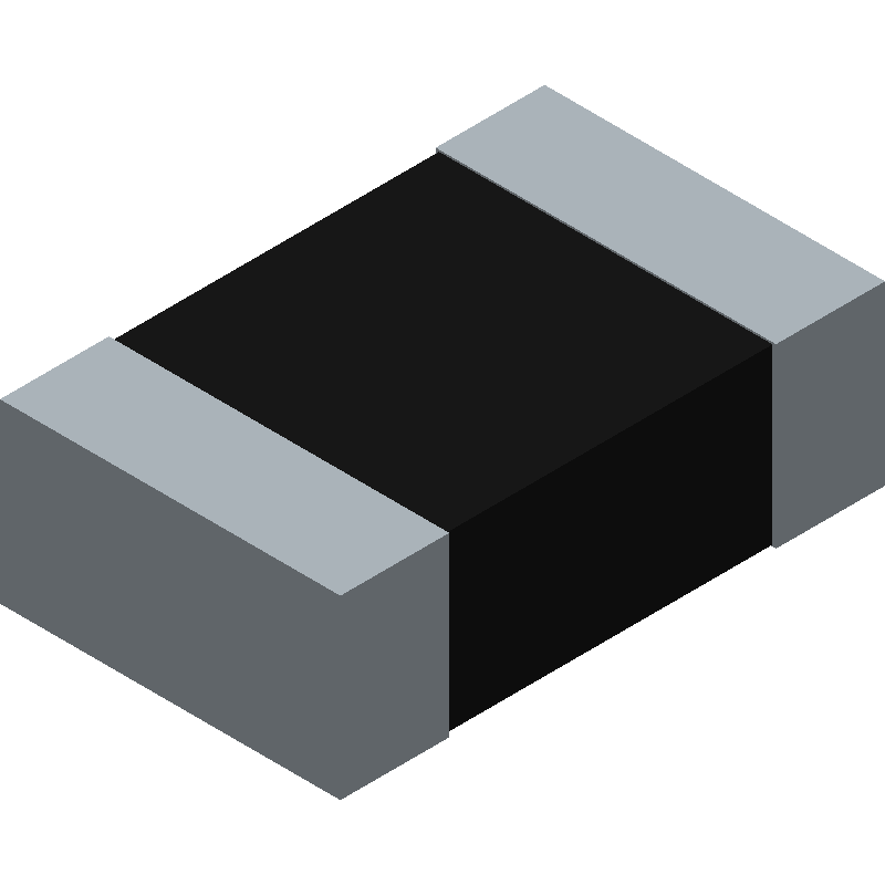 TE Connectivity CPF0805B127RE1 (Resistor Chip) 3D model isometric projection.